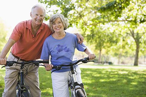 senior couple enjoys life insurance coverage options